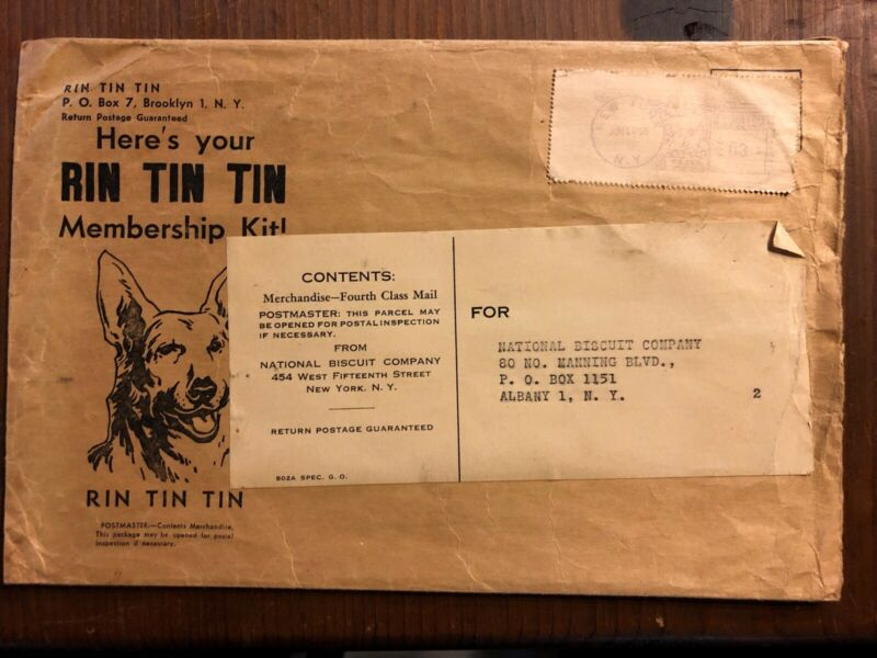 Vintage RIN TIN TIN Trading Post Rare MEMBERSHIP KIT Envelope