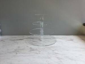 4 TIER ROUND ACRYLIC CUPCAKE STAND - USED Marrickville Marrickville Area Preview