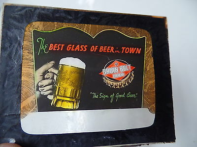 PRE PRO GRAIN BELT BEER GLASS MAGIC LANTERN SLIDE MINNEAPOLIS MINNESOTA MINN MN