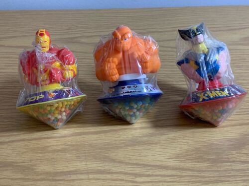 Marvel - 3 Hero Top Candy Dispersers From 1995