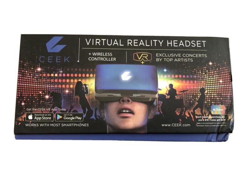 CEEK Virtual Reality (VR) Headset - Blue + Wireless Controller