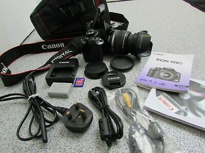 Canon EOS 450D 12.2MP Digital Camera with EF-S 18-55mm Zoom Lens (PP10)