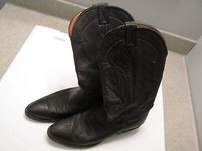 Nocona Black Western Boots  10.5  B Very Good Shape,  Little Wear Original Owner
