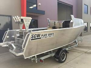 5.8m aluminium plate boat run about bare hull only Carrum Downs Frankston Area Preview