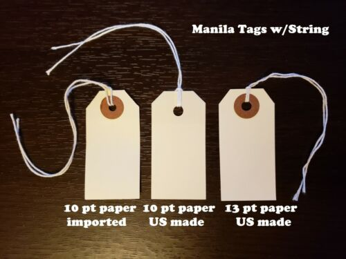 Manila Tags With String Inventory Shipping Hang Label Strung Scrapbook