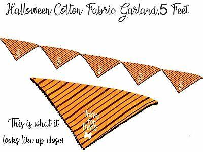 Halloween Fall Garland Fabric 5 Feet Dog Home Decor Mantel Fireplace Decoration