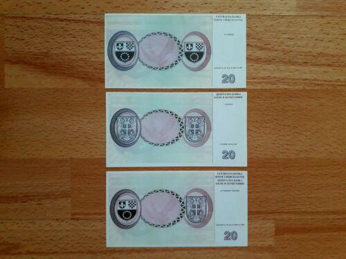 Bosnia And Herzegovina banknotes - 20 Convertible Mark 1997 - UNC- Rare