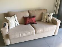 2.5 seater beige sofa couch Woolloomooloo Inner Sydney Preview