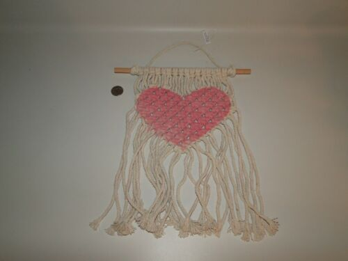 Macrame Heart Pattern  Wall Hanging