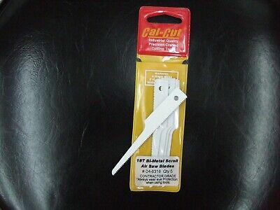 Air Saw Blades 18 TPI BI-Metal Pro Grade USA Fits All Air Body Saws 5pk. Scroll
