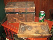 Antique Salesman Sample Trunk