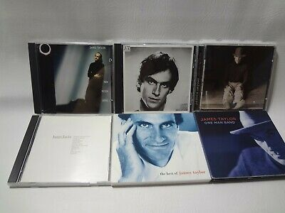 JAMES TAYLOR  LOT OF 6 CDS one man band new moon shine best of hourglass