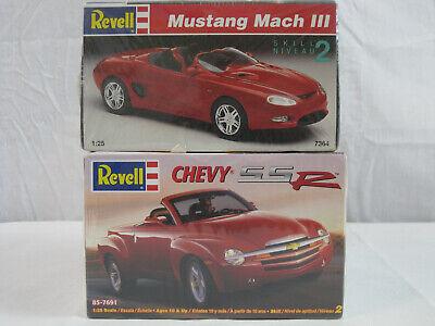Revell 2 model kit lot Chevy SSR 7691 Mustang Mach III 7364 NIB