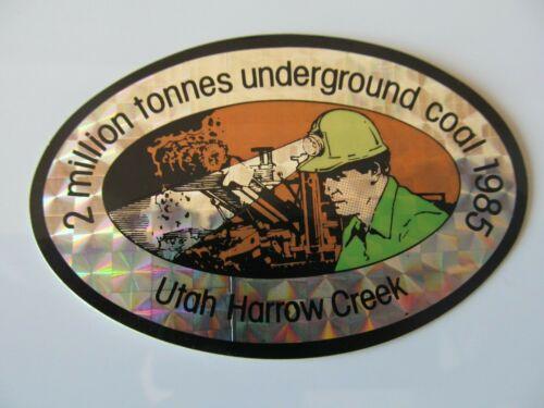 Coal Mining Stickers,  Utah Harrow Creek