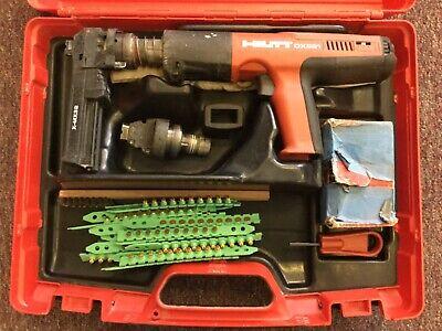 Hilti Dx351 Powder Actuated Tool Nail Gun Fastener Kit With Case