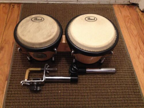 PEARL PRIMERO WOOD BONGOS COME WITH BRACKET FOUND WITH THEM READ & SEE PICTURES