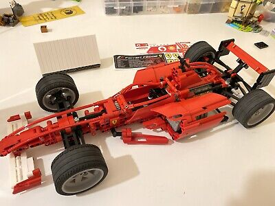 Lego Racers Ferrari F1 Racer 1:10 8386 100% Complete With Custom Display Sticker