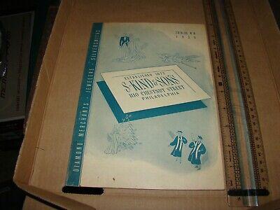 1936 S. Kind & Sons Jewelers Chestnut St, Broad Philadelphia PA Catalog 50p 7x10