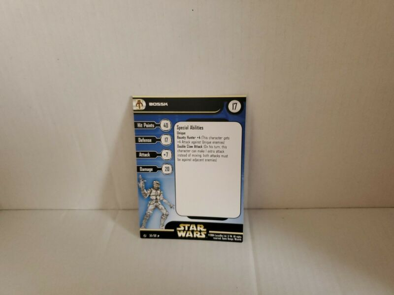 Star Wars Miniatures Bossk Rebel Storm RS  Card only