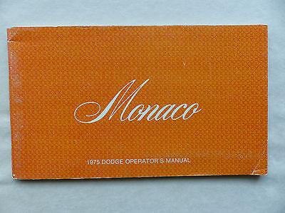 Dodge 1975 Monaco - US-Betriebsanleitung / operation manual 1975