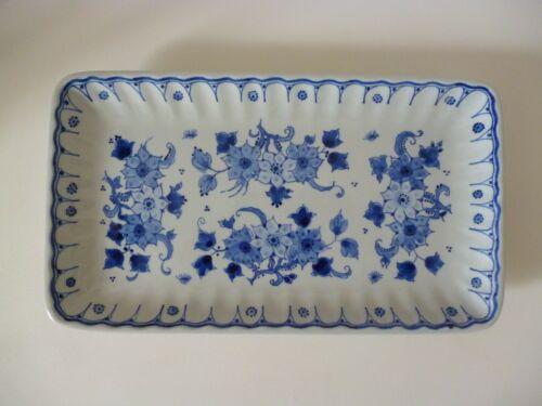 Authentic Dutch Royal Delft De Porceleyne Fles Rectangle Dish 1986  24cm x 14cm