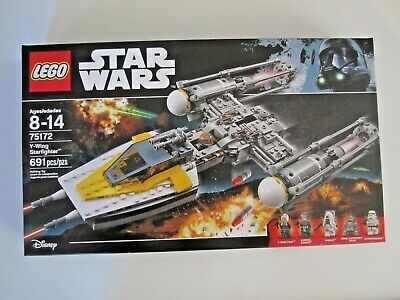75172 LEGO Star Wars Y-Wing StarFighter 691 Pieces 5 Mini Figures New Sealed Box