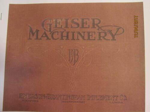 1913 Geiser Machinery, Emerson Brantingham Impl.  Company Machinery Catalog