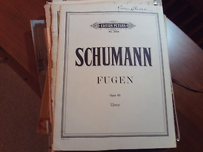 Robert Schumann: 6 Fugues on the Name BACH, Organ (Peters)