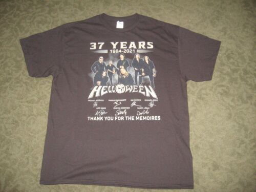 "Brand new,  ""Helloween"" 37 years tribute shirt, Black, mens XL, never worn"
