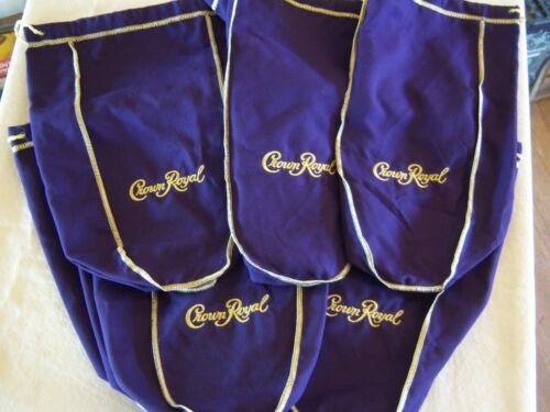 25 CROWN ROYAL CANANDIAN PURPLE BAGS 1.75 Embroidered Whisky Storage Diving Lg