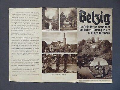 Reisefaltprospekt Belzig tausendjährige Kreisstadt, von 1938, Bad Belzig