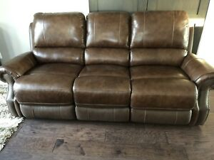 Leather Reclining Sofa (BRAND NEW)