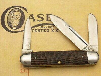 Antique Case Tested 1920-1940 6345 Cattle Knife Green Bone WWII Era