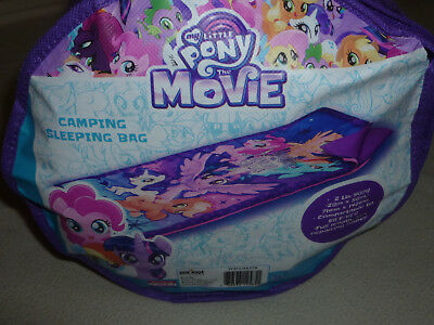 NEW MY LITTLE PONY MOVIE CAMP SLEEPING BAG HASBRO 2017 PINKIE PIE RAINBOW DASH >