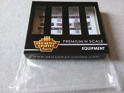 Broadway Limited H32 Covered Hopper Pennsylvania Gray 4-Pack #3170 Empty Box ~TS