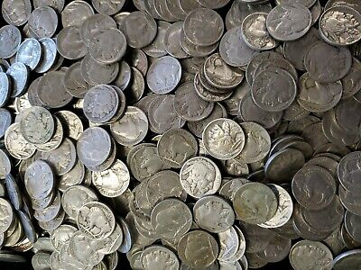 ROLL of 40 Buffalo Nickels With FULL DATES ** FREE SHIPPING **