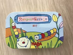 HABA Caterpillar Dice - A Simple Travel Game in Storage Tin