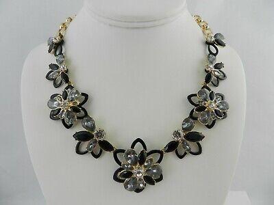 Anne Klein Gold-Tone Floral Crystal 17