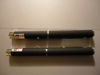 2 (two) Powerful Red Laser Pointer Pen 5mW 650nm,Great for pets. New -