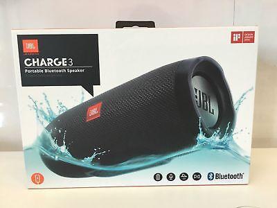 JBL CHARGE3BLK Charge 3 Waterproof Portable Bluetooth Speaker