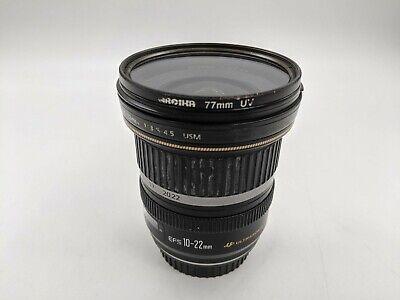 Good Cannon Zoom EFS 10-22mm f/3.5-4.5 Ultrasonic Lens -LH0338