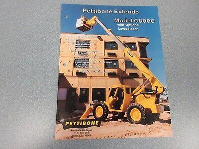 Rare Pettibone C8000 Extendo Forklift Sales Sheet