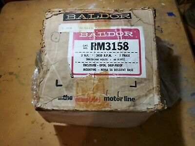 Baldor Rm3158 3 Hp 3450 Rpm 3 Phase Electric Motor