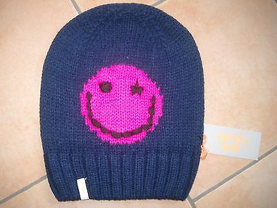 (M20) Grobstrick Mütze FREAKY HEADS Beanie Wintermütze Happy Face mit Logo Flag
