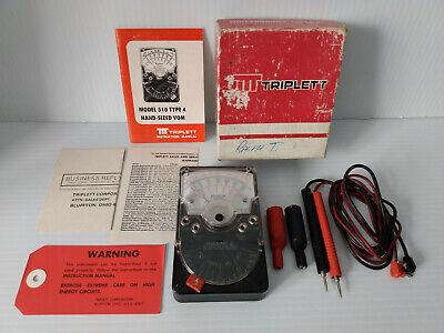 Vintage Triplett Model 310-j Type 4 Handheld Analog Voltohm Meter