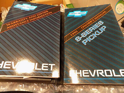 1995 CHEVROLET S-SERIES PICKUP TRUCK OWNERS MANUAL Factory Issued oem