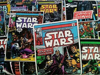 Star Wars Comic Book luke vader yoda FQ/Half metre 100% cotton fabric,free p&p,