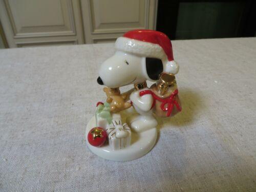 LENOX PEANUTS SNOOPY NIGHT BEFORE CHRISTMAS SNOOPY FIGURINE NO BOX