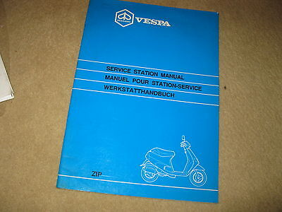 Piaggio Vespa Scooter Service Station Workshop Manual Model Zip