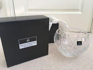 Rare Royal Doulton Dorchester 21cm Fine Lead Crystal Bowl Benowa Gold Coast City Preview